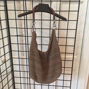 THE SAK Tan Crochet Slouchy Bag 💼